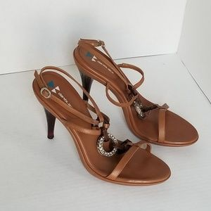 ANTHROPOLOGIE DANI BLACK Ankle Strap Sandal 8.5